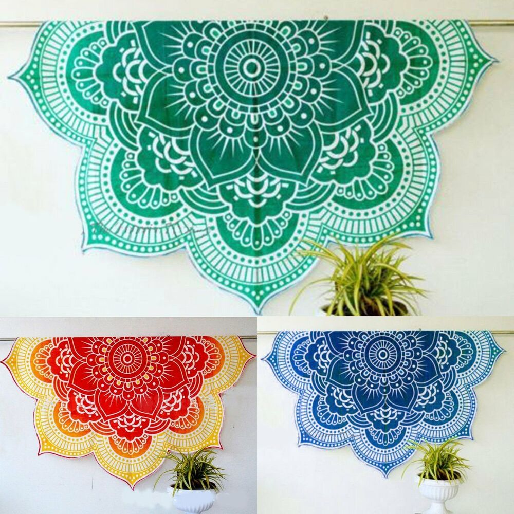 Indian Mandala Round Tapestry Hippie Beach Throw Towel