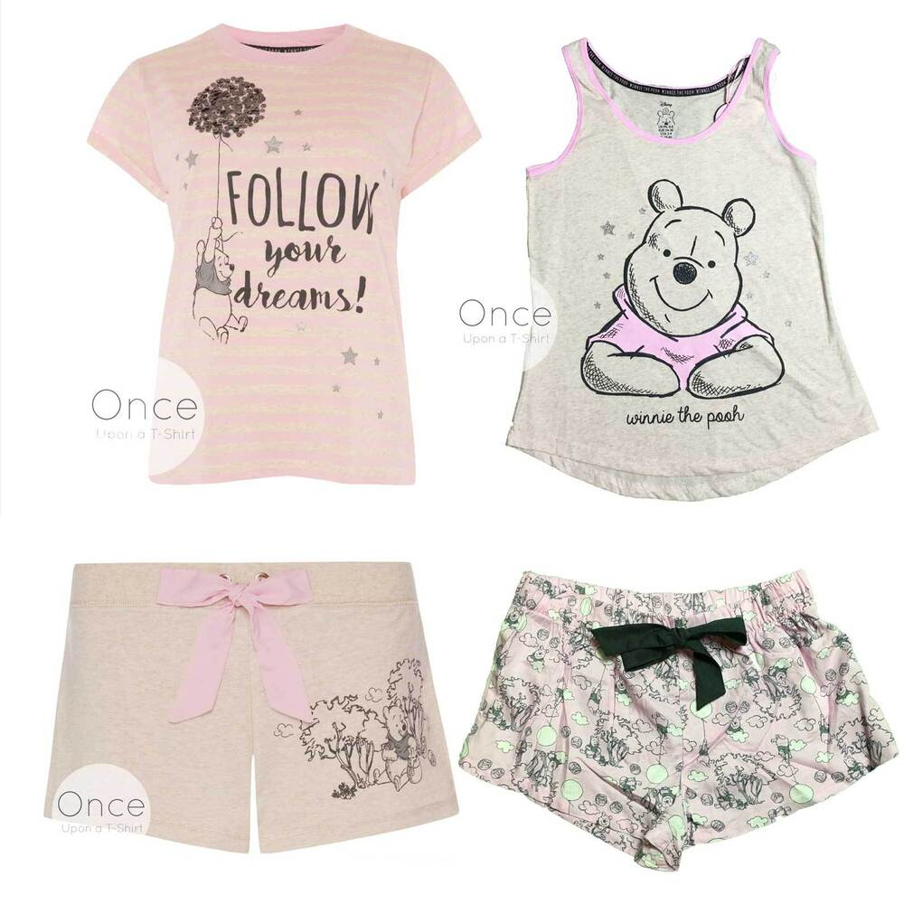 5175acd046 PRIMARK Ladies DISNEY WINNIE THE POOH Pyjama Pieces Vest