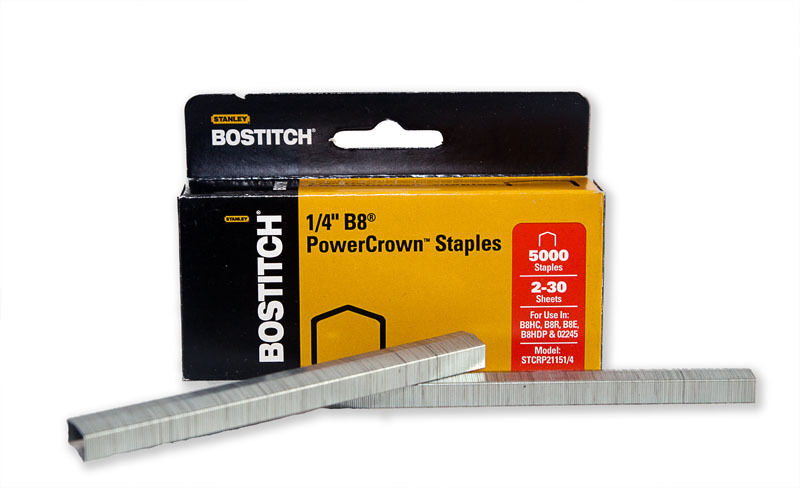 Bostitch B8 Power Crown Staples 1 4 Quot Box Of 5000 Wholesale