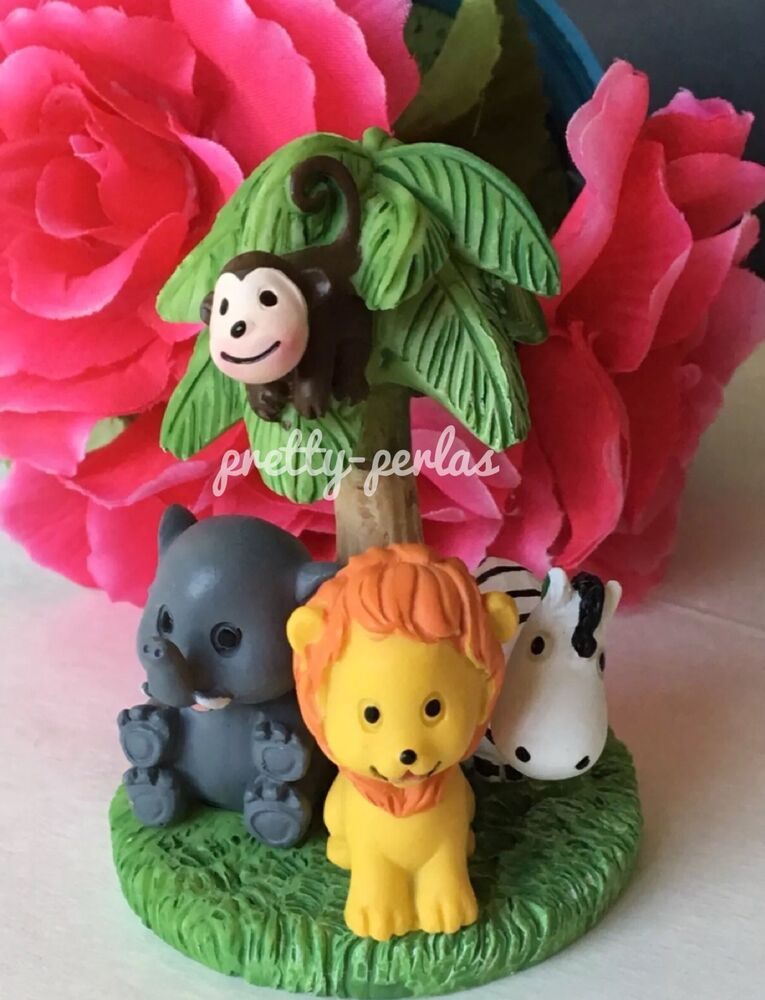 Cake Decorating Animal Figures : 1PC Baby Shower Cake Topper Decorations Animals Safari ...