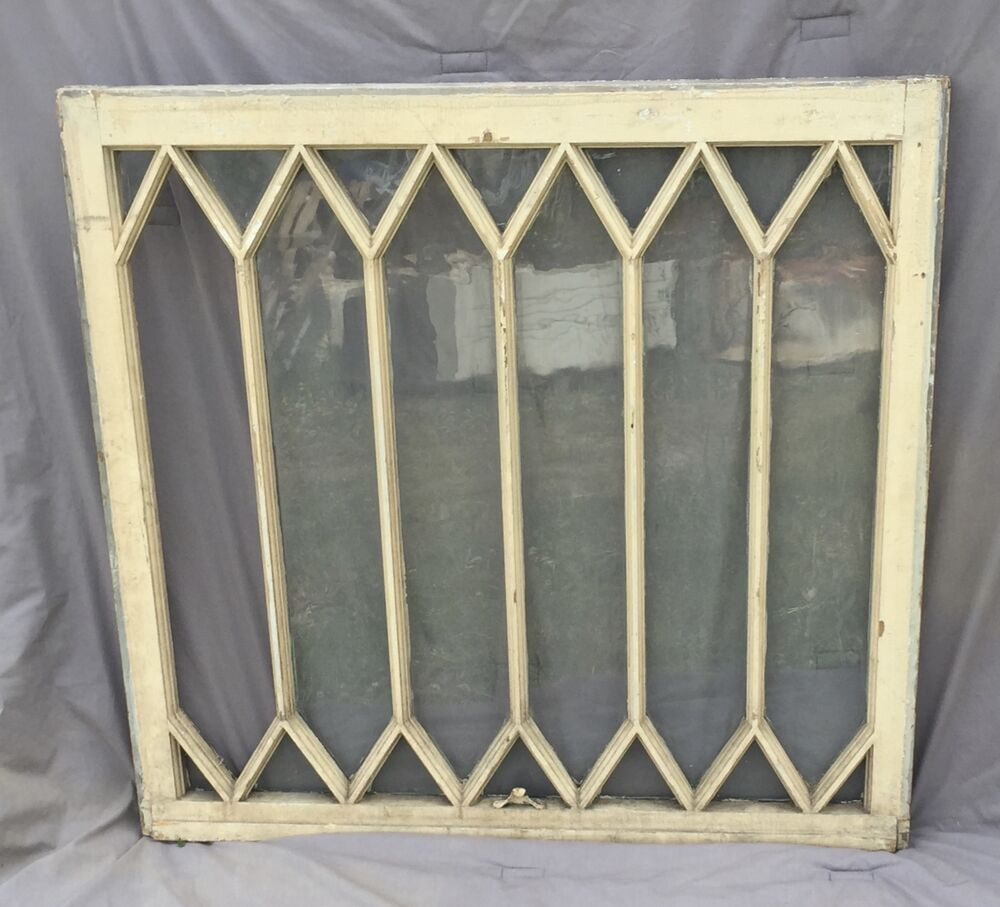 Antique window diamond sash pattern old shabby cottage for 16 window