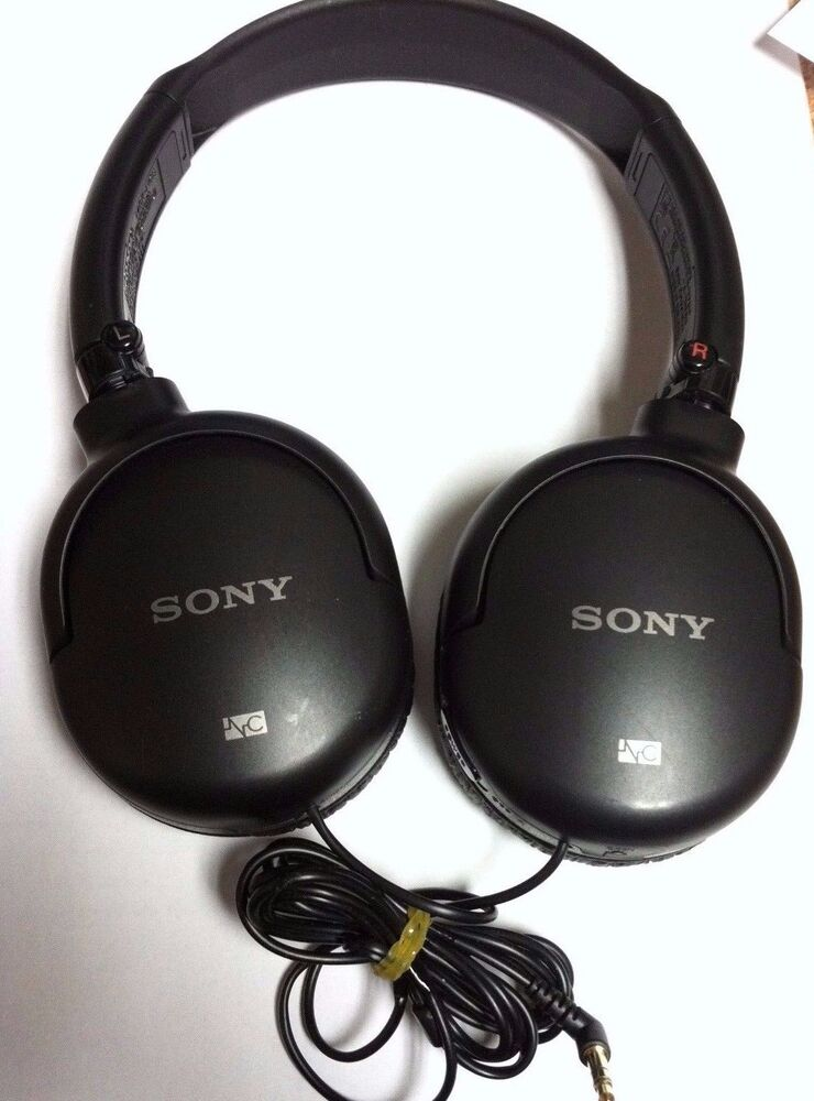 sony mdr nc8 noise cancelling over ear stereo headphones. Black Bedroom Furniture Sets. Home Design Ideas