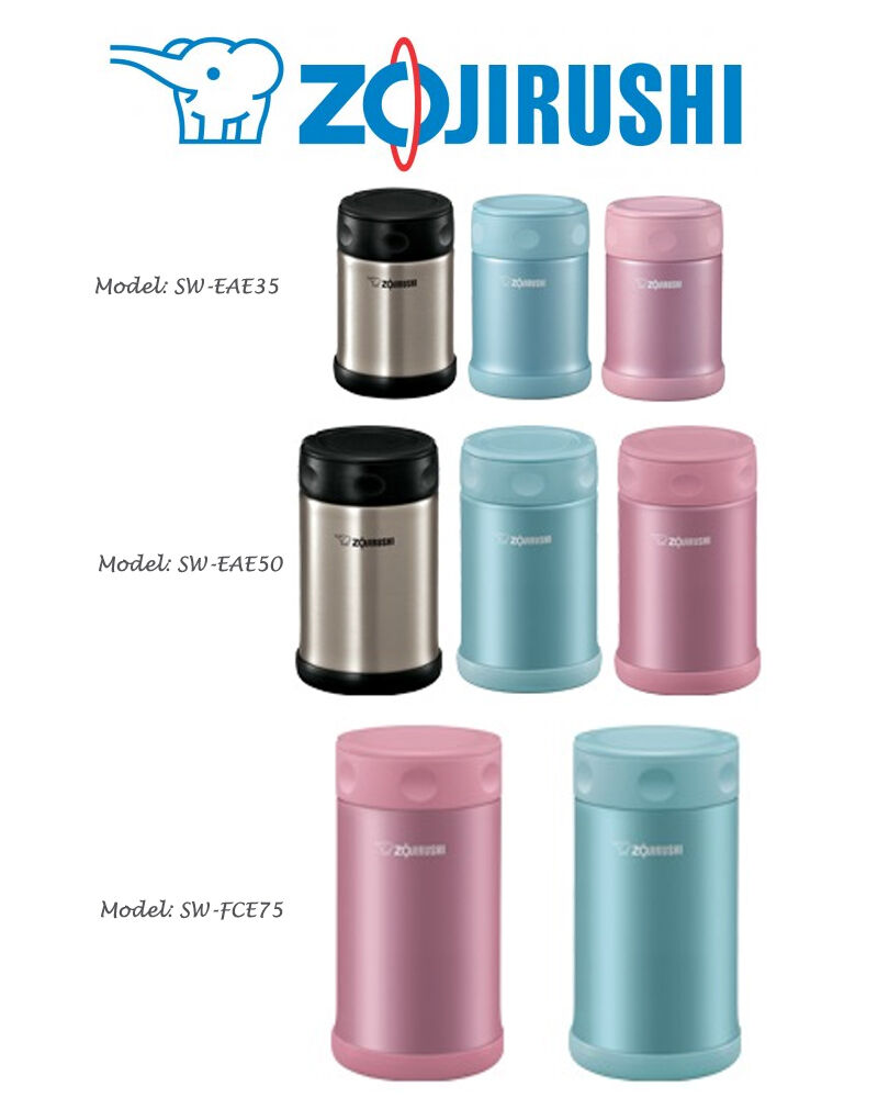 Zojirushi Stainless Steel Lunch Food Jars 12oz 17oz