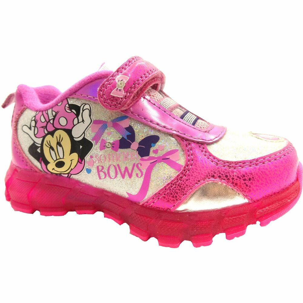Nwot Disney Girls Light Up Minnie Mouse Shoes Sneakers