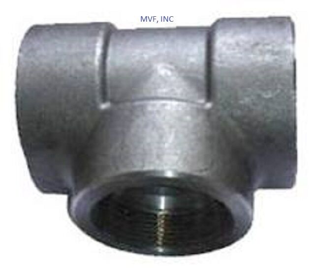 Forged steel quot socket weld tee a