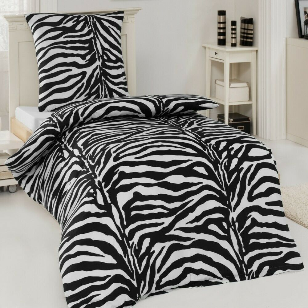 microfaser bettw sche garnitur zebra african dream 135x200. Black Bedroom Furniture Sets. Home Design Ideas