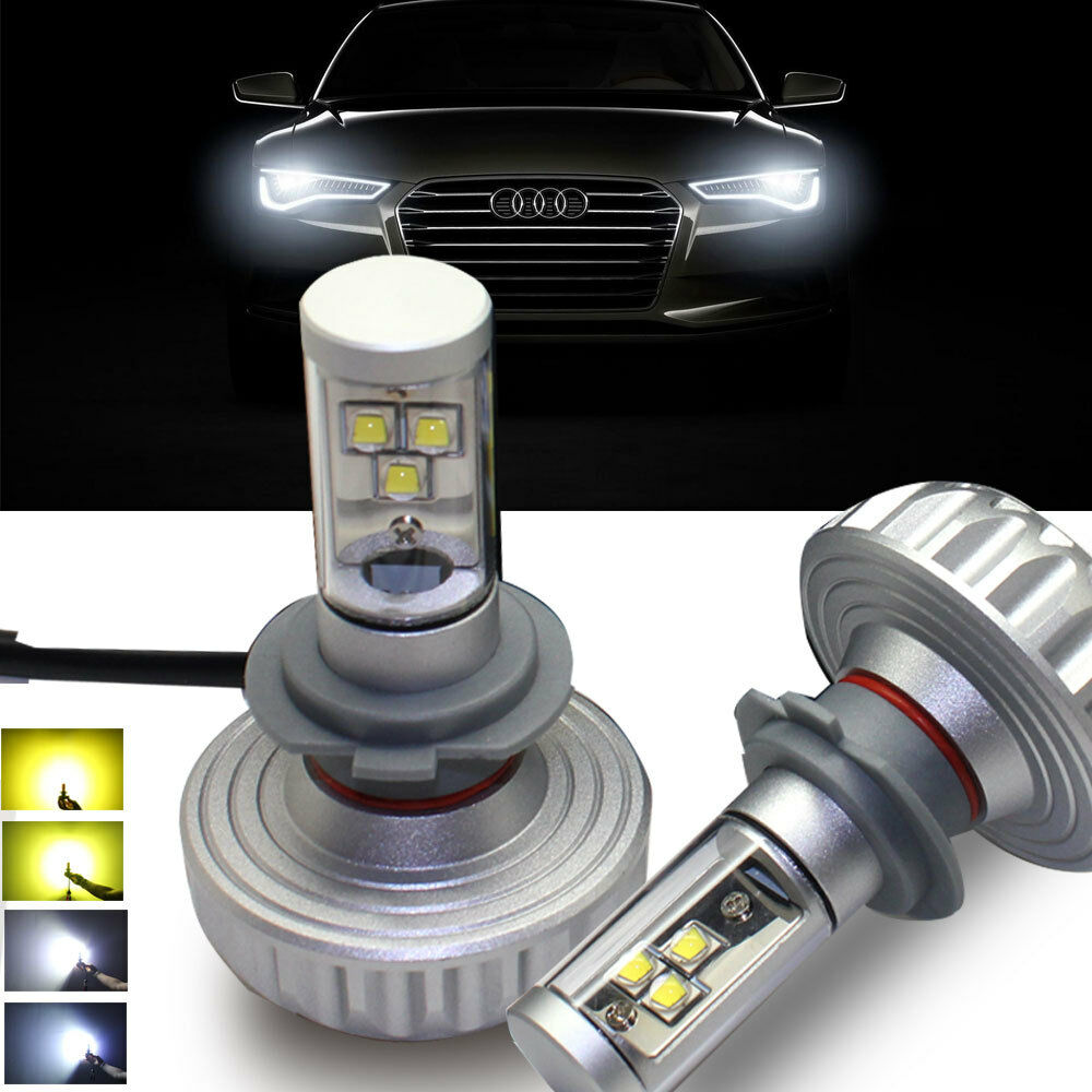 cree chip h7 led headlight bulbs 4400lm 44w headlight conversion kit error free ebay. Black Bedroom Furniture Sets. Home Design Ideas