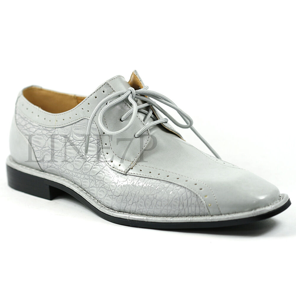 s light gray lace up perforated dress classic oxford