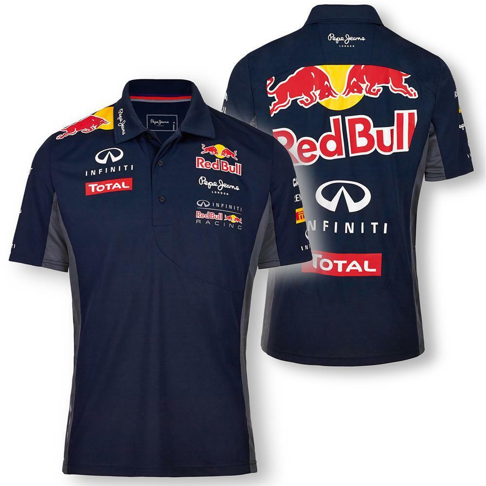 pepe jeans red bull racing official teamline functional f1 polo shirt poloshirt ebay. Black Bedroom Furniture Sets. Home Design Ideas