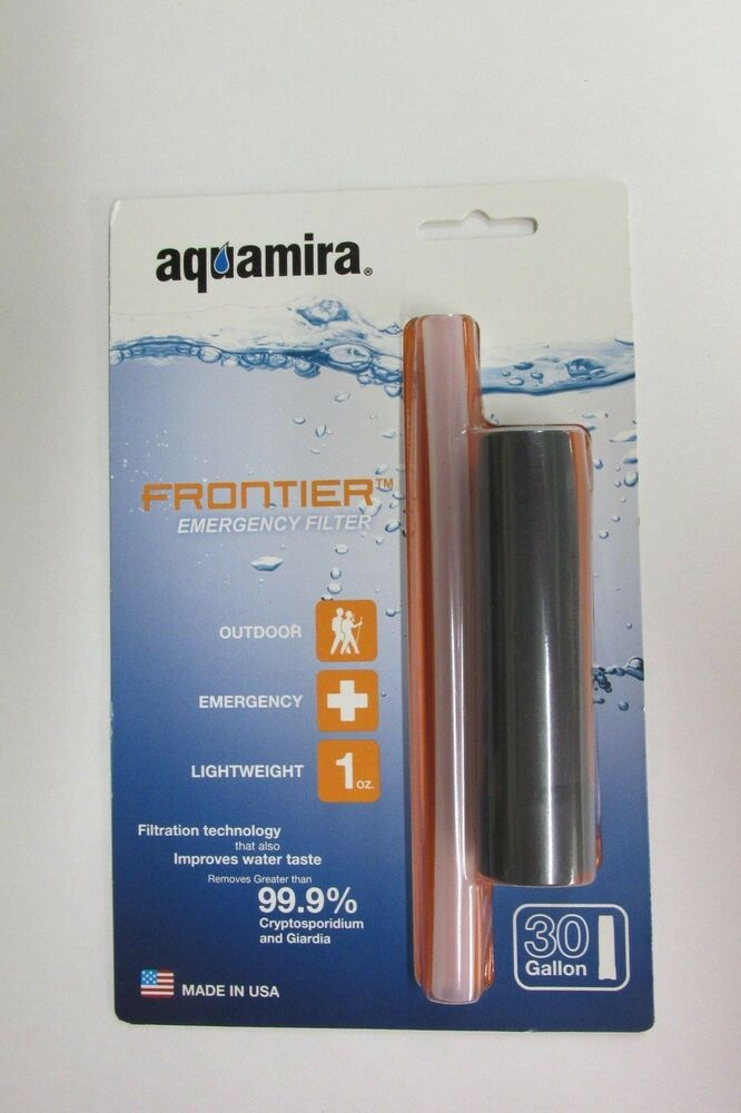 New Aquamira Frontier Emergency Water Filter System Straw