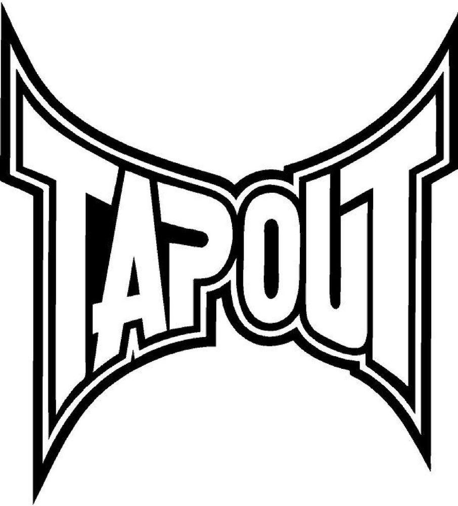 Tapout Vinyl Decal Sticker Free Shipping Ebay