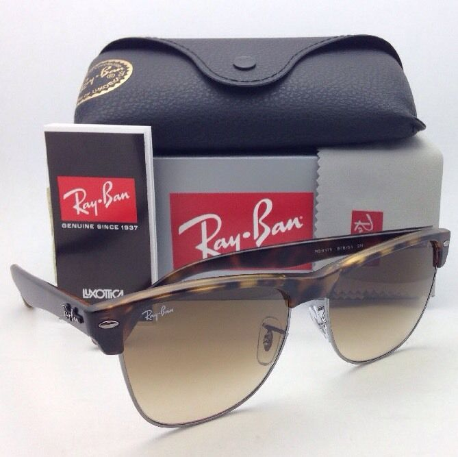 1663690d44a Details about Ray-Ban Sunglasses CLUBMASTER OVERSIZED RB 4175 878 51 Havana Tortoise  w  Brown
