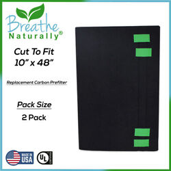 Universal Cut To Fit 10x48 Activated Carbon Pre-Filter 2 Pack