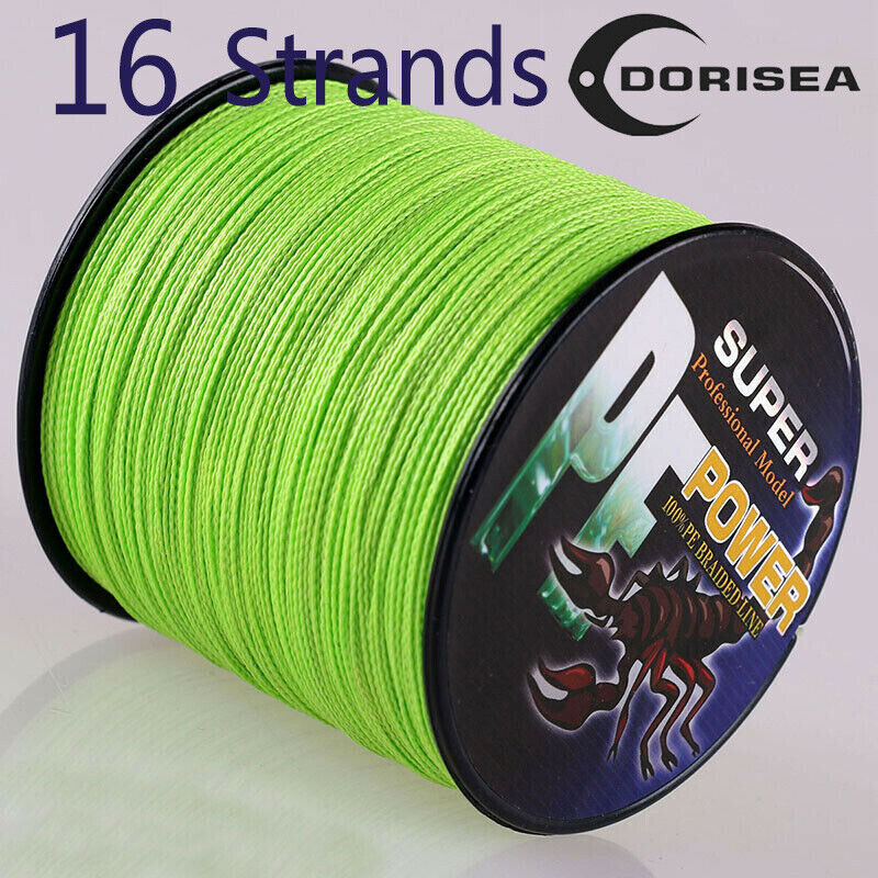 16strands 100m 2000m 20lb 300lb fluorescent green hollow for Fluorescent fishing line