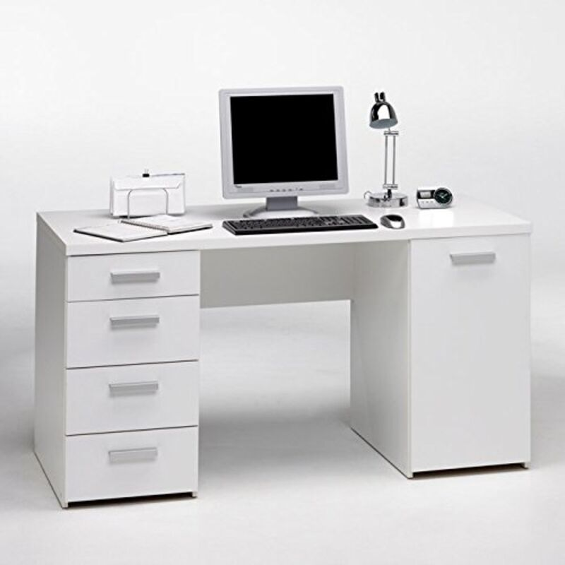 tvilum whitman plus desk white 8012149 office desk new ebay