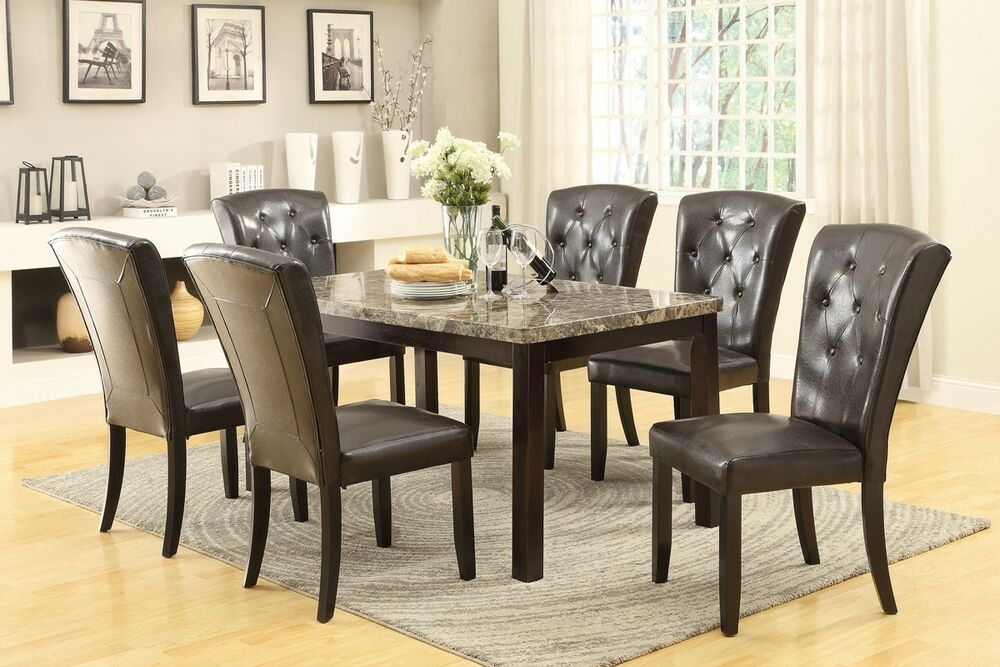 Marble top dining room furniture