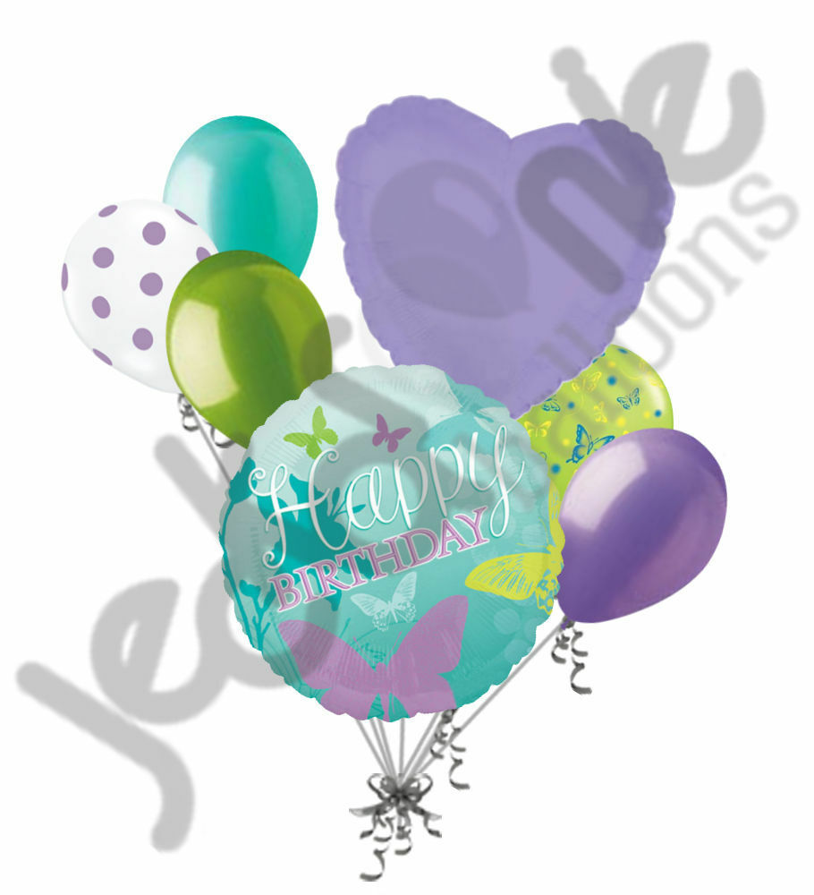 7 pc butterfly wedding shower balloon bouquet party for Balloon decoration for engagement party