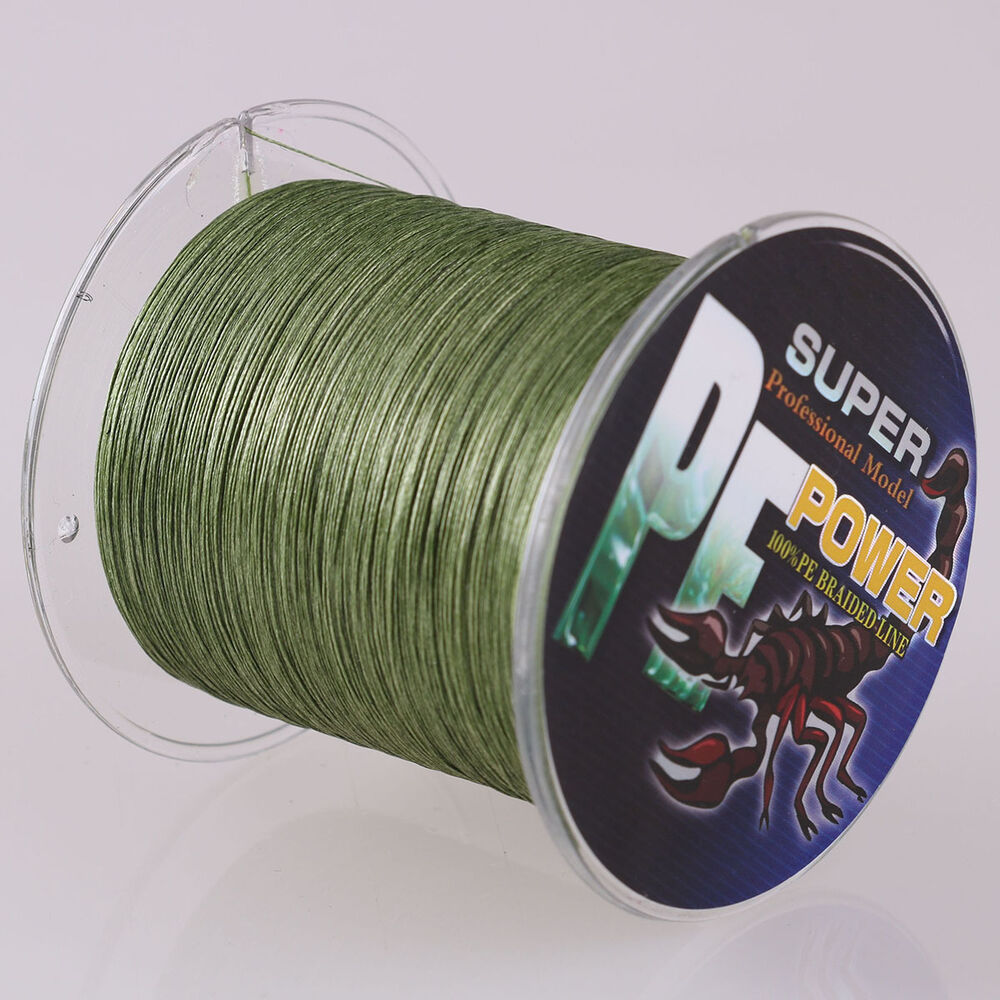 16 strands 100m 2000m 20 300lb army green hollow pe for 20 lb braided fishing line