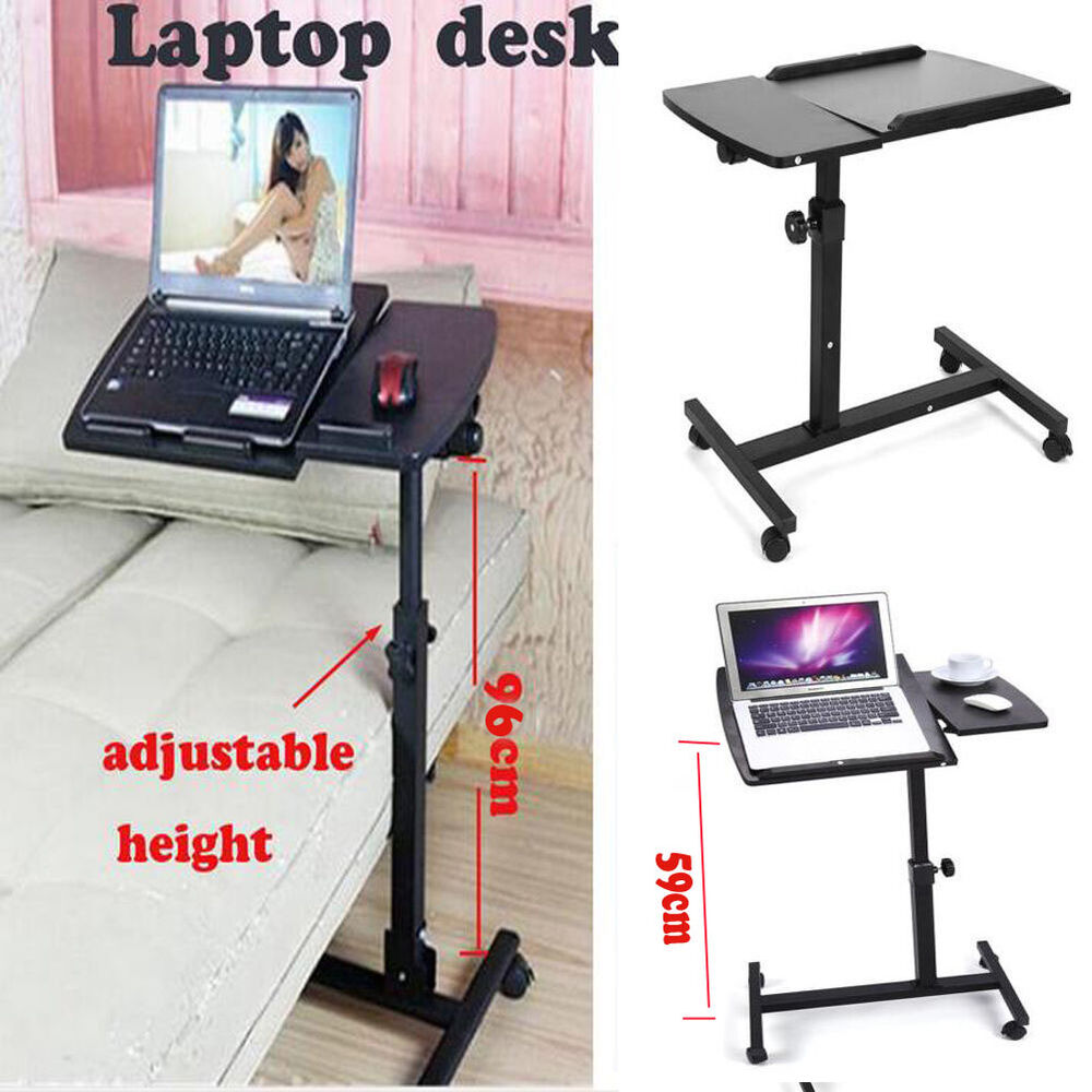 Adjustable portable laptop table desk sofa bed tray for Pc bed table