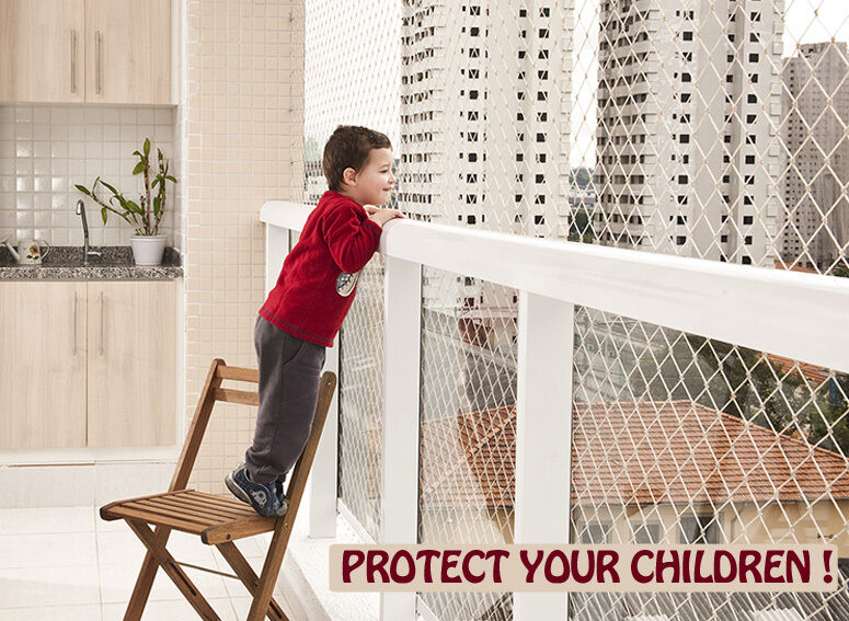 Safety Net System For Windows Balconies And Stairs