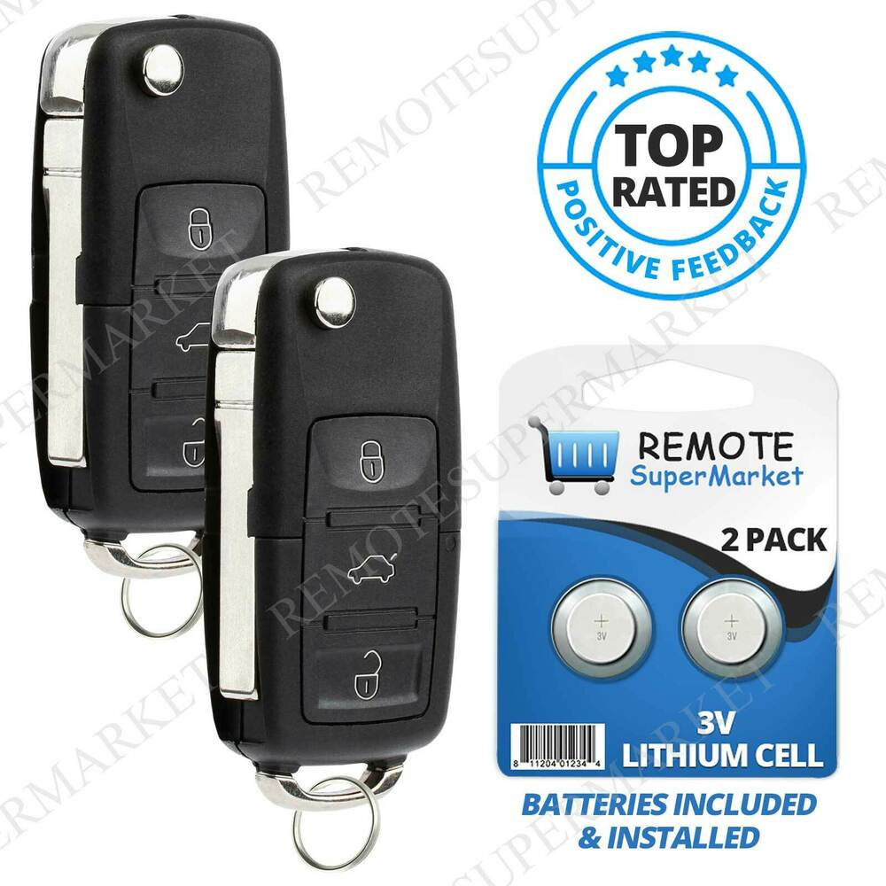 replacement  volkswagen vw   jetta passat remote car key fob pair ebay