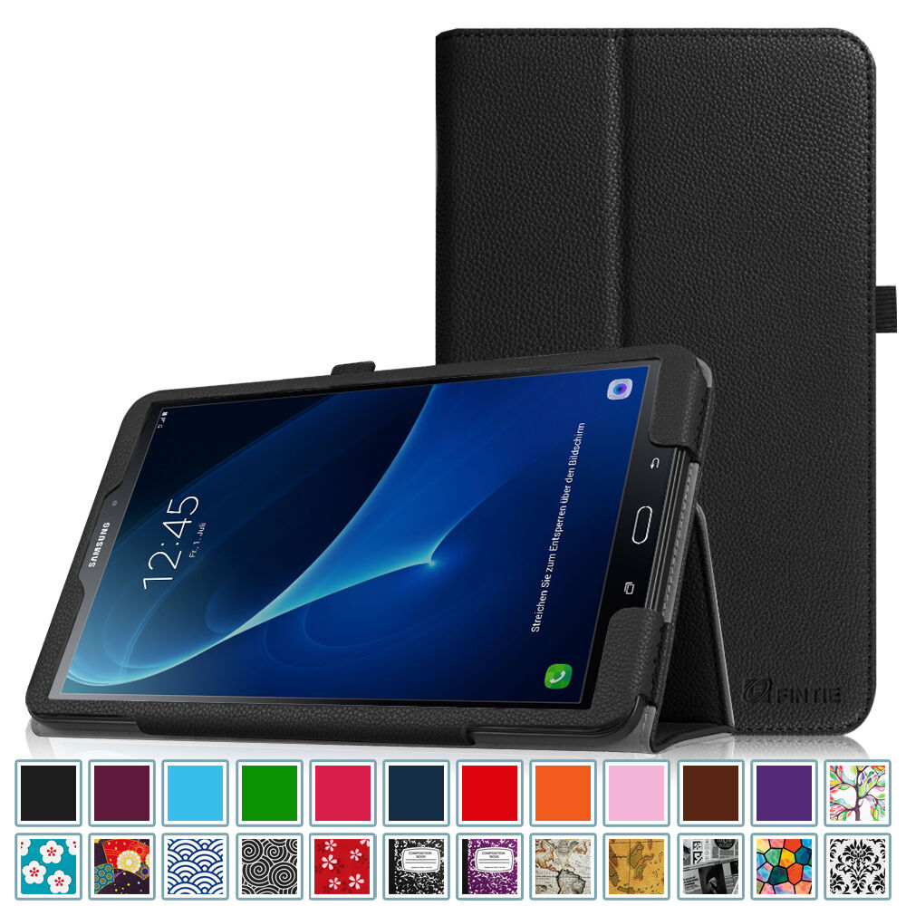 samsung galaxy tab a 10 1 case leather cover with auto wake sleep sm t580nzkaxar ebay. Black Bedroom Furniture Sets. Home Design Ideas