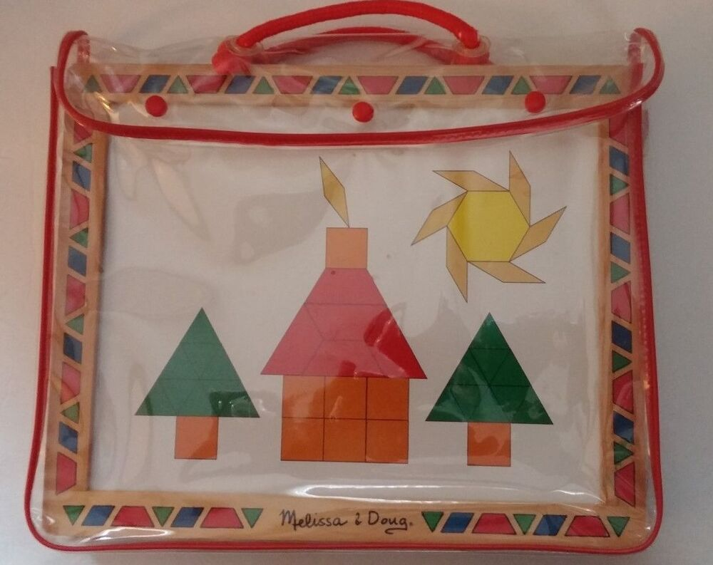 Melissa And Doug Pattern Blocks And Boards Puzzle