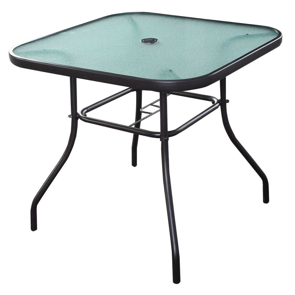 """32 1/2"""" Patio Square Bar Dining Table Glass Deck Garden ..."""