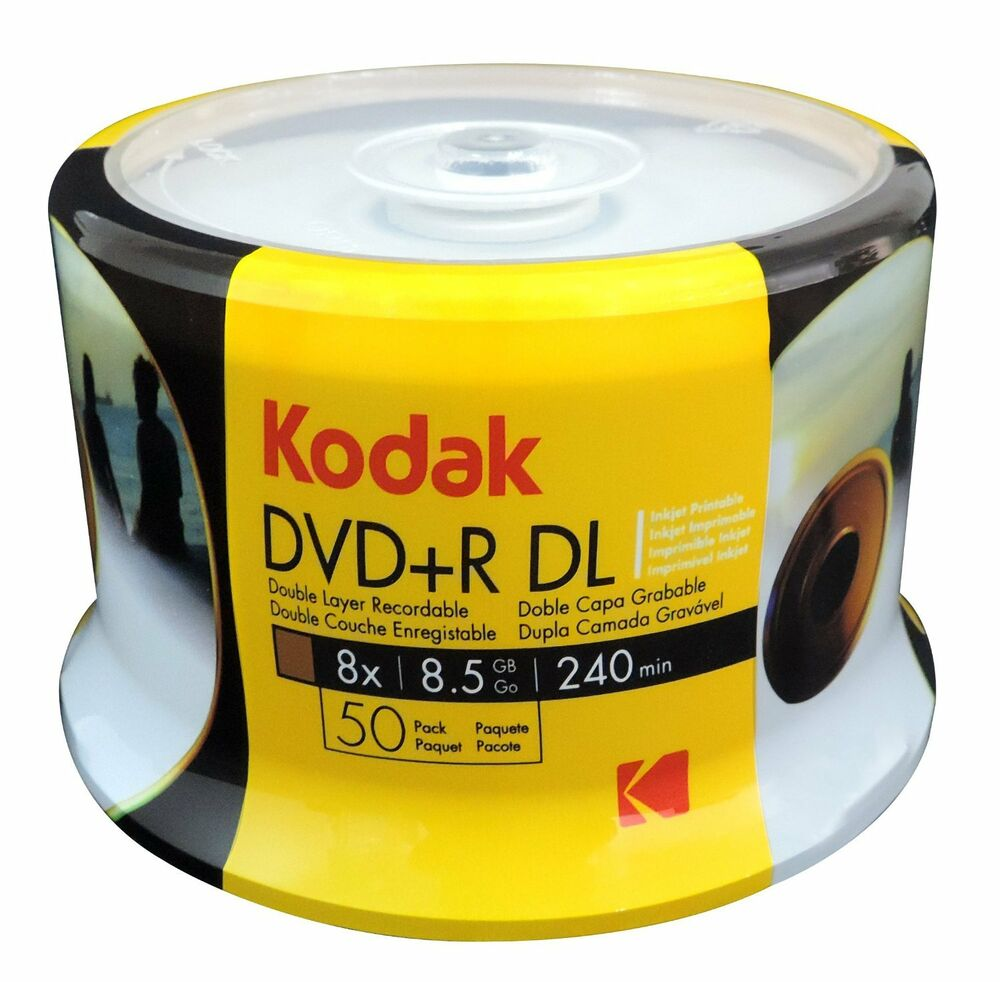 kodak brand white inkjet printable dvd r dl dual layer. Black Bedroom Furniture Sets. Home Design Ideas