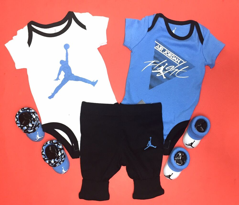 Jordan baby gift sets : Air jordan baby boys piece gift set bodysuits pants
