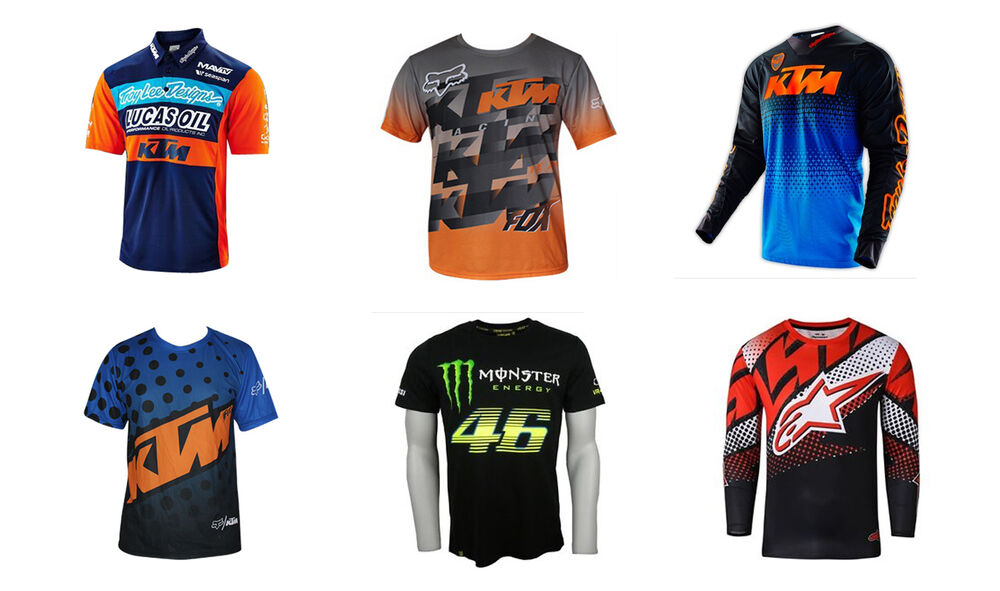 t shirt undershirt t shirt moto ktm monster motocross alpinestars ebay. Black Bedroom Furniture Sets. Home Design Ideas
