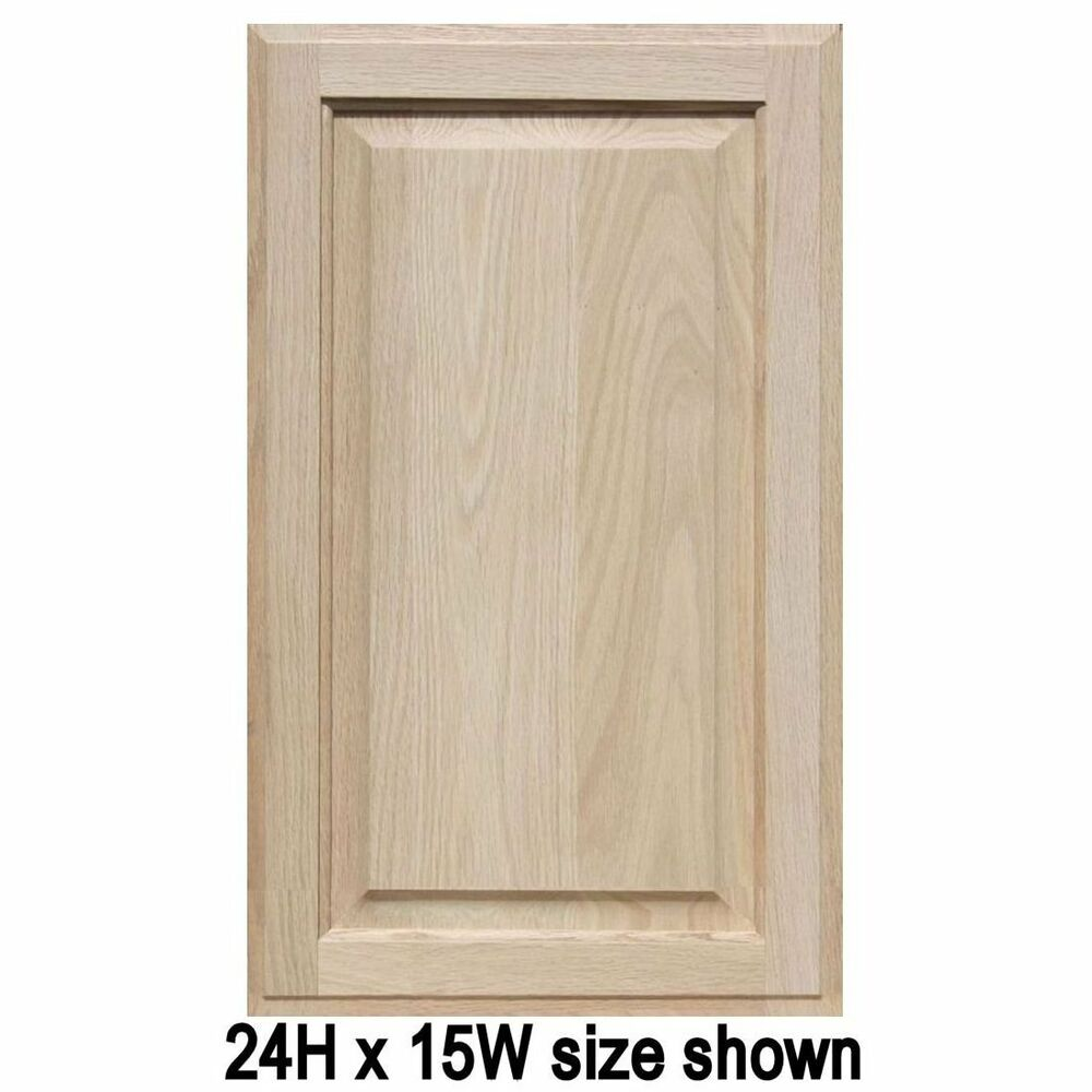 unfinished oak cabinet doors square with raised panel up to 24 h ebay. Black Bedroom Furniture Sets. Home Design Ideas