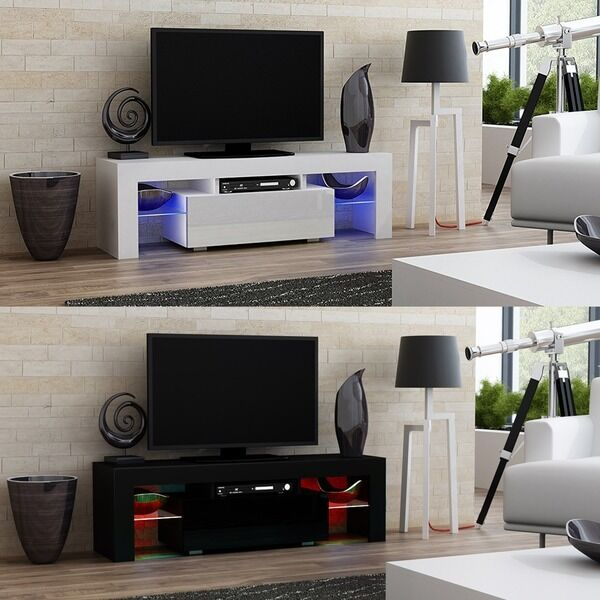Modern TV Cabinet Stand 130cm Wide Television