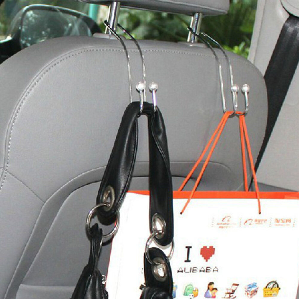 car seat truck coat hook purse bag hanging hanger auto bag organizer holder 2x ebay. Black Bedroom Furniture Sets. Home Design Ideas
