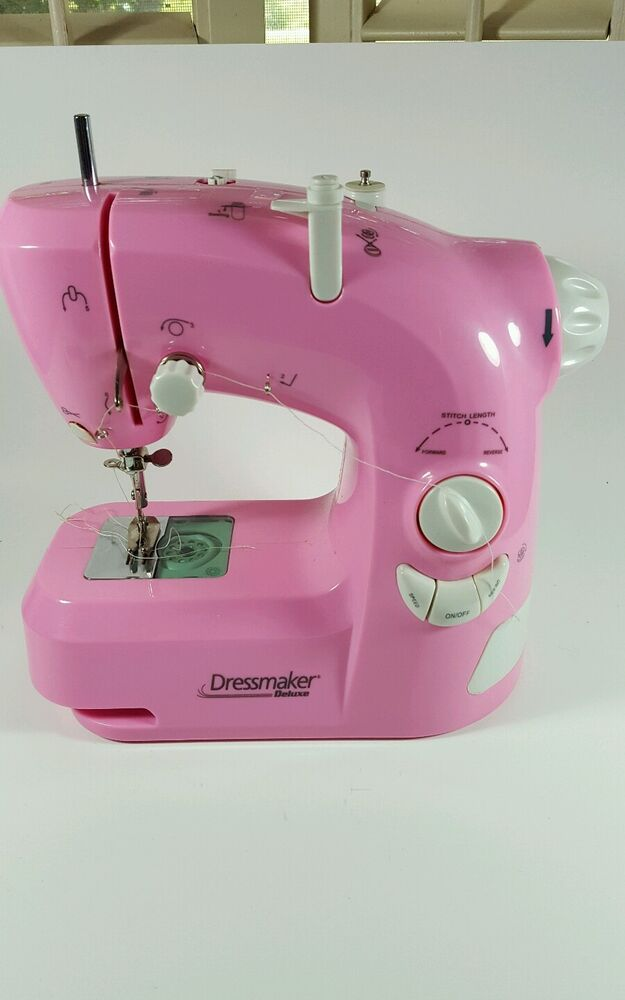 Child 39 s electric hsn dressmaker pink sewing machine 1104h for Euro pro craft n sew