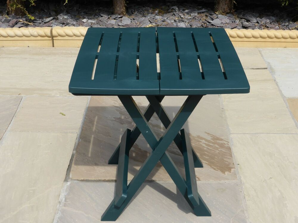 Resin plastic garden table lightweight folding outdoor camping side table ebay - Lightweight camping tables ...
