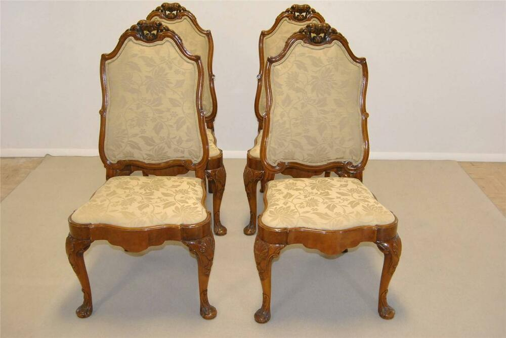 set of four french burled wood antique side chairs ebay