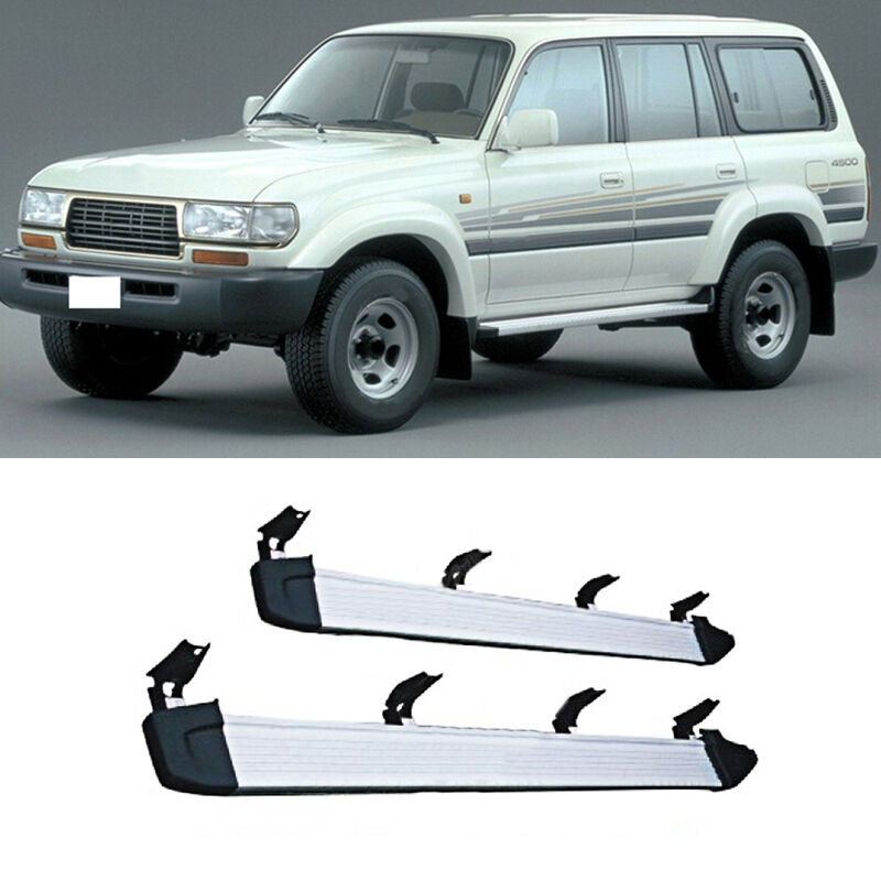 for toyota land cruiser fj80 1989 1998 car side pedals. Black Bedroom Furniture Sets. Home Design Ideas