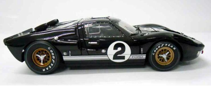 Shelby Ford Trucks >> 1/18 SHELBY COLLECTIBLES 1966 FORD GT-40 MK2 #2 BLACK 1966 LeMANS WINNER | eBay