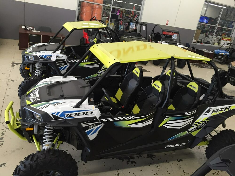 lime squeeze polaris rzr xp 4 1000 aluminum roof 4 seat. Black Bedroom Furniture Sets. Home Design Ideas