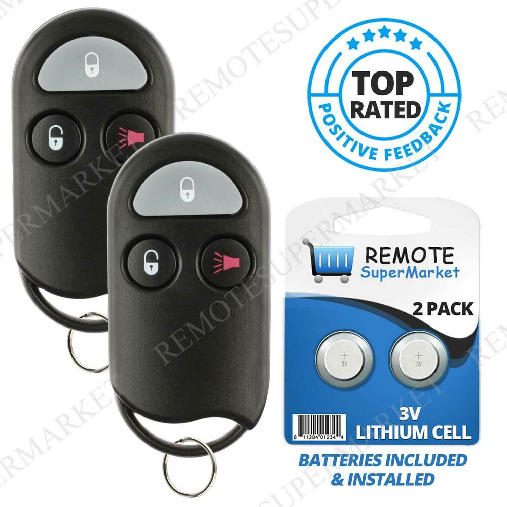 Nissan Key Fob Replacement >> Replacement for Nissan 1998-2000 Frontier 1996-98 Pathfinder Remote Key Fob Pair | eBay