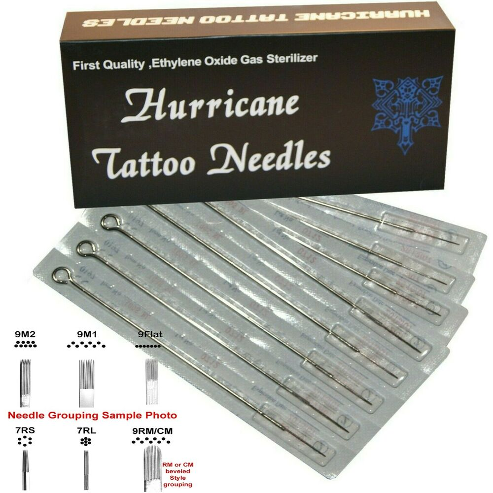 50 box sterile tattoo needles lining or shading sizes ebay for Shading tattoo needles