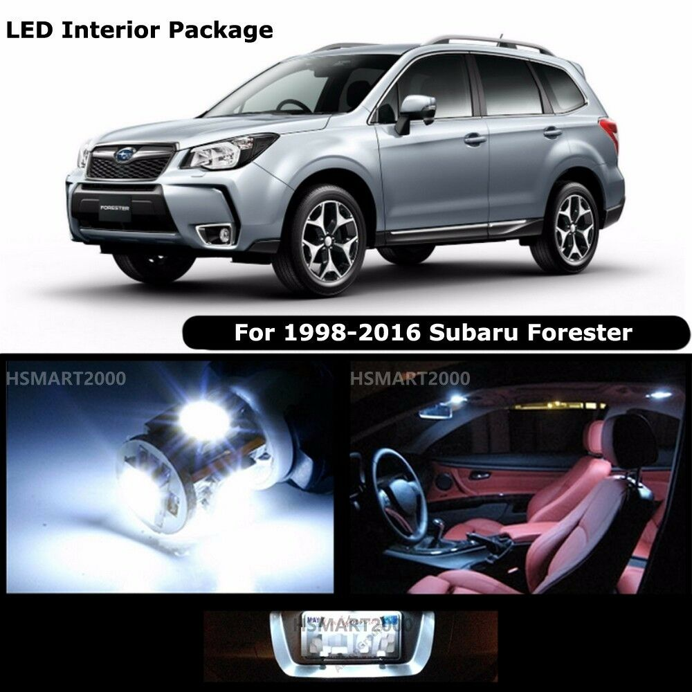 8pcs Cool White Interior Led Bulbs Package Kit For 1998 2016 Subaru Forester Ebay
