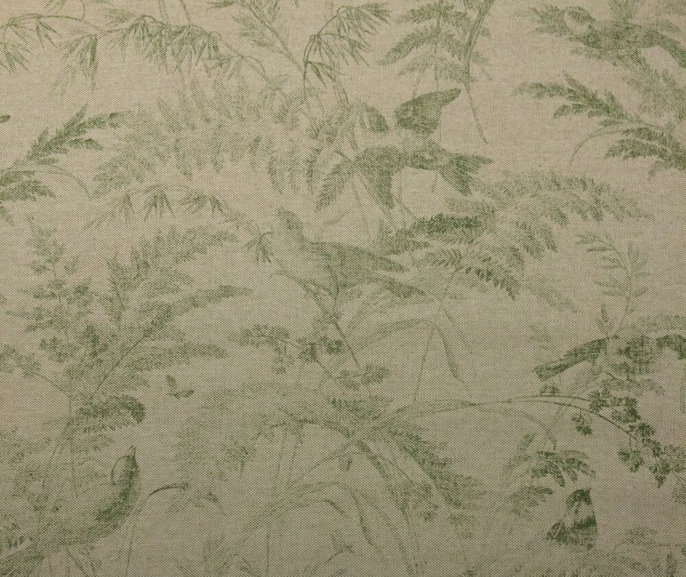 Lacefield designs bird toile green floral basketweave for Design couchtisch fabric