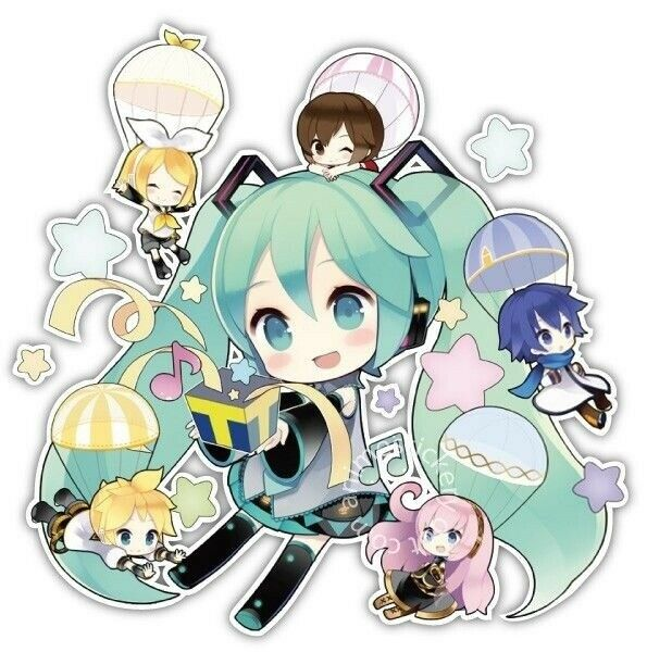 Vocaloid Chibi Miku Hatsune Anime Car Window Bike Decal