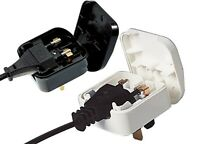 Euro Europe to UK Plug Converter 2 to 3pin Pins  5A Fused BLACK Adapter