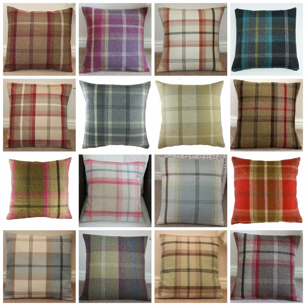 Balmoral Tartan Check Cushion Covers Various Colours