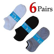 6 Pairs Womens Low Cut Socks Ankle Sport Athletic Peds Black White Grey Lot Pack
