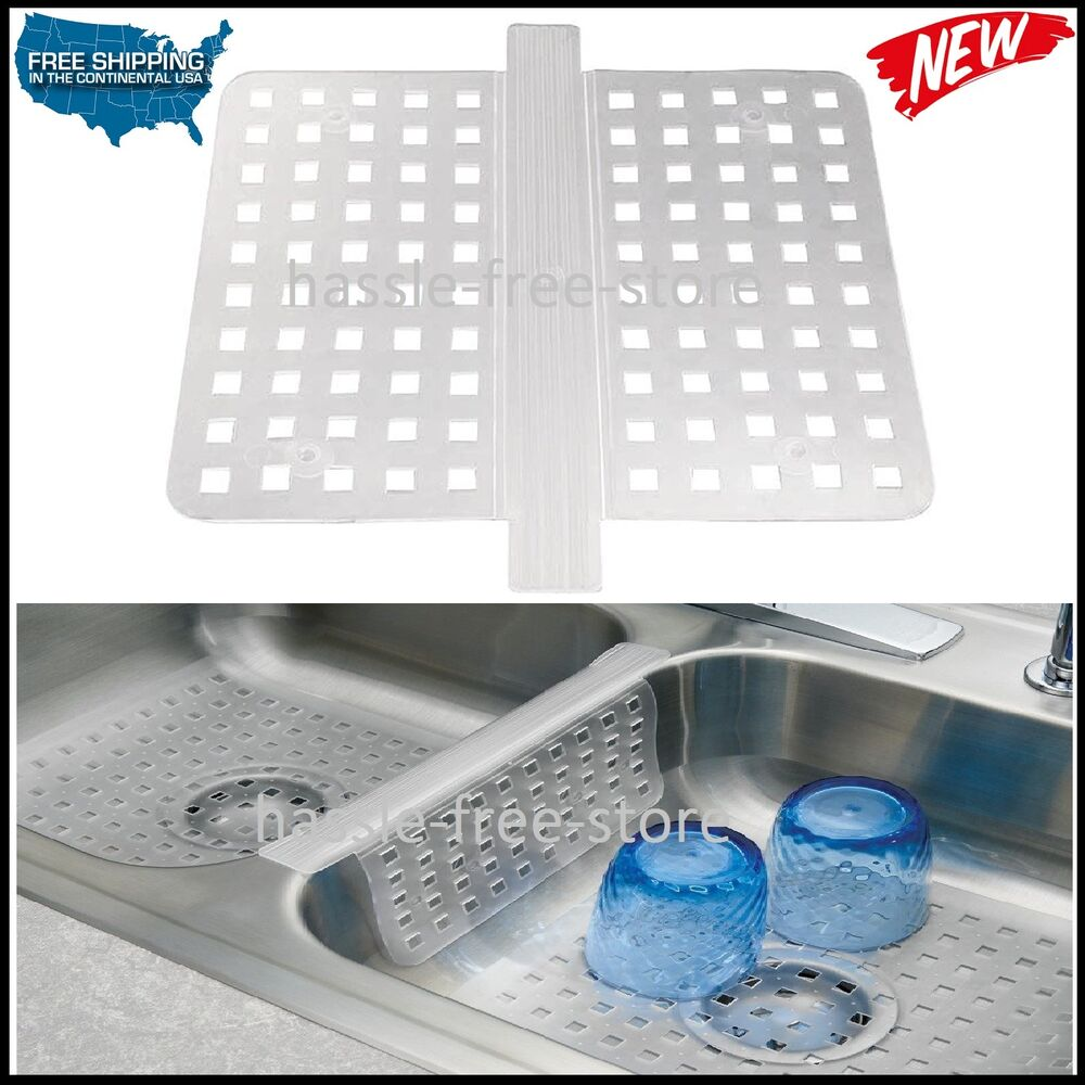 Mat Protector Double Sink Divider Clear Kitchen Dish Safe