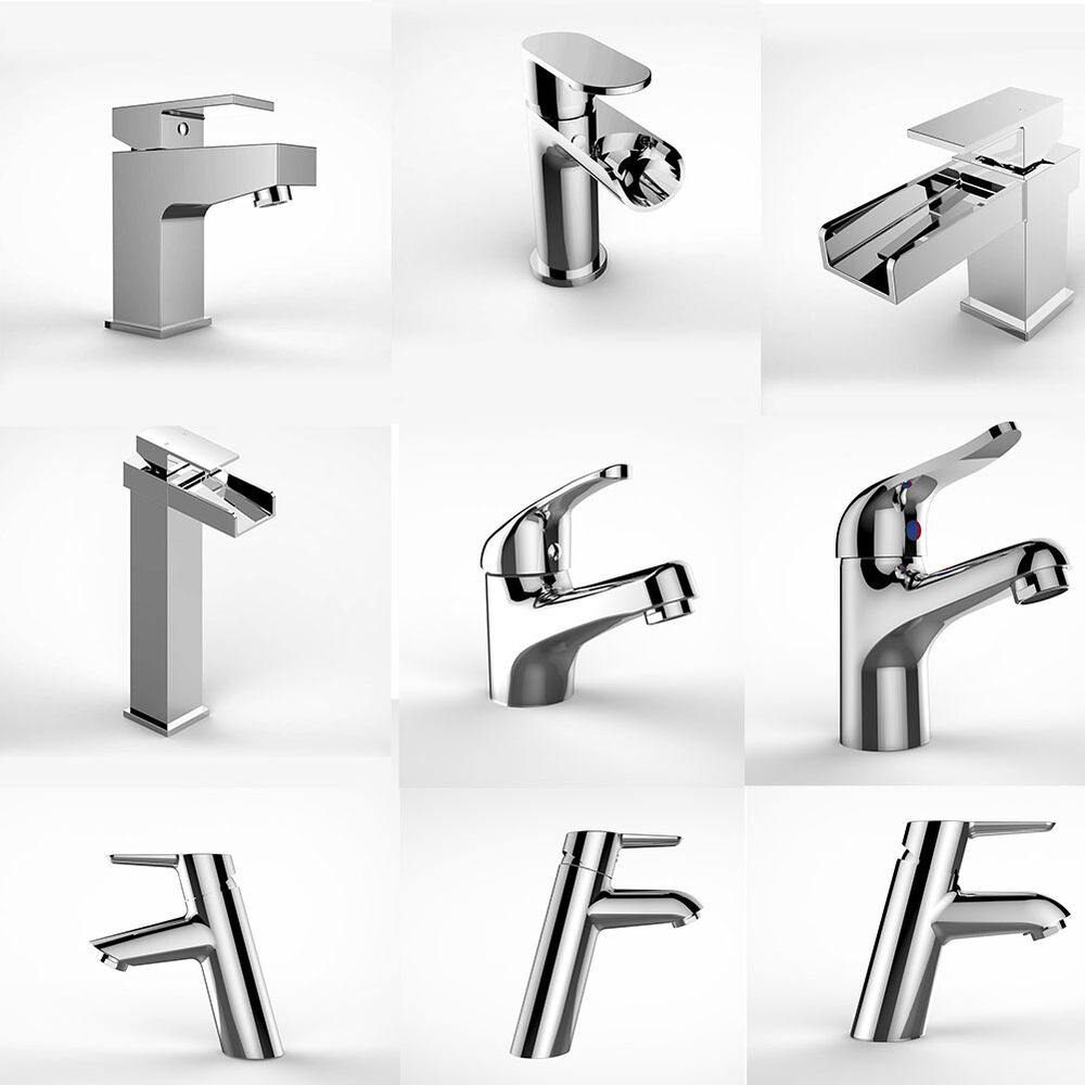 Bathroom basin mixer tap with pop up waste waterfall for Bathroom sink lever taps